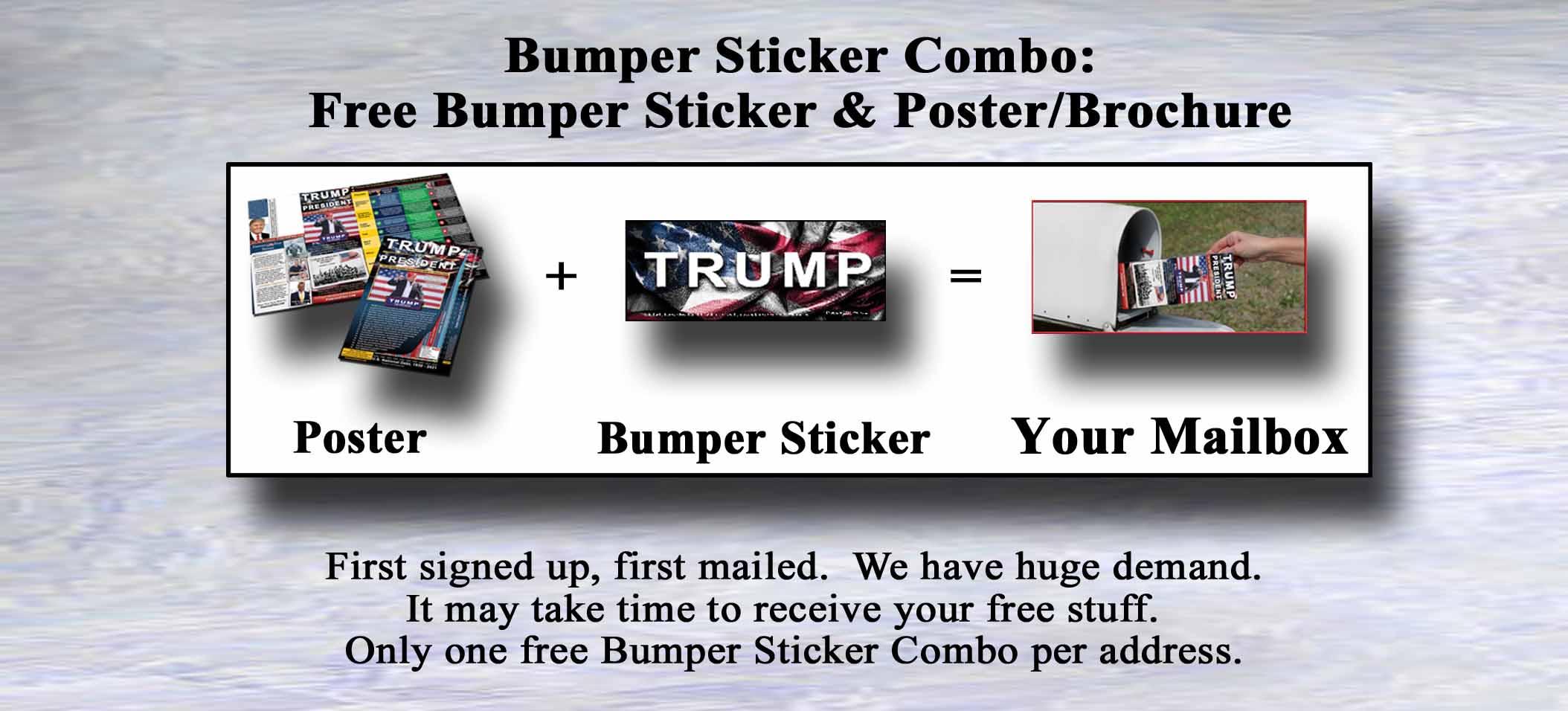 Free Bumper Sticker Combo