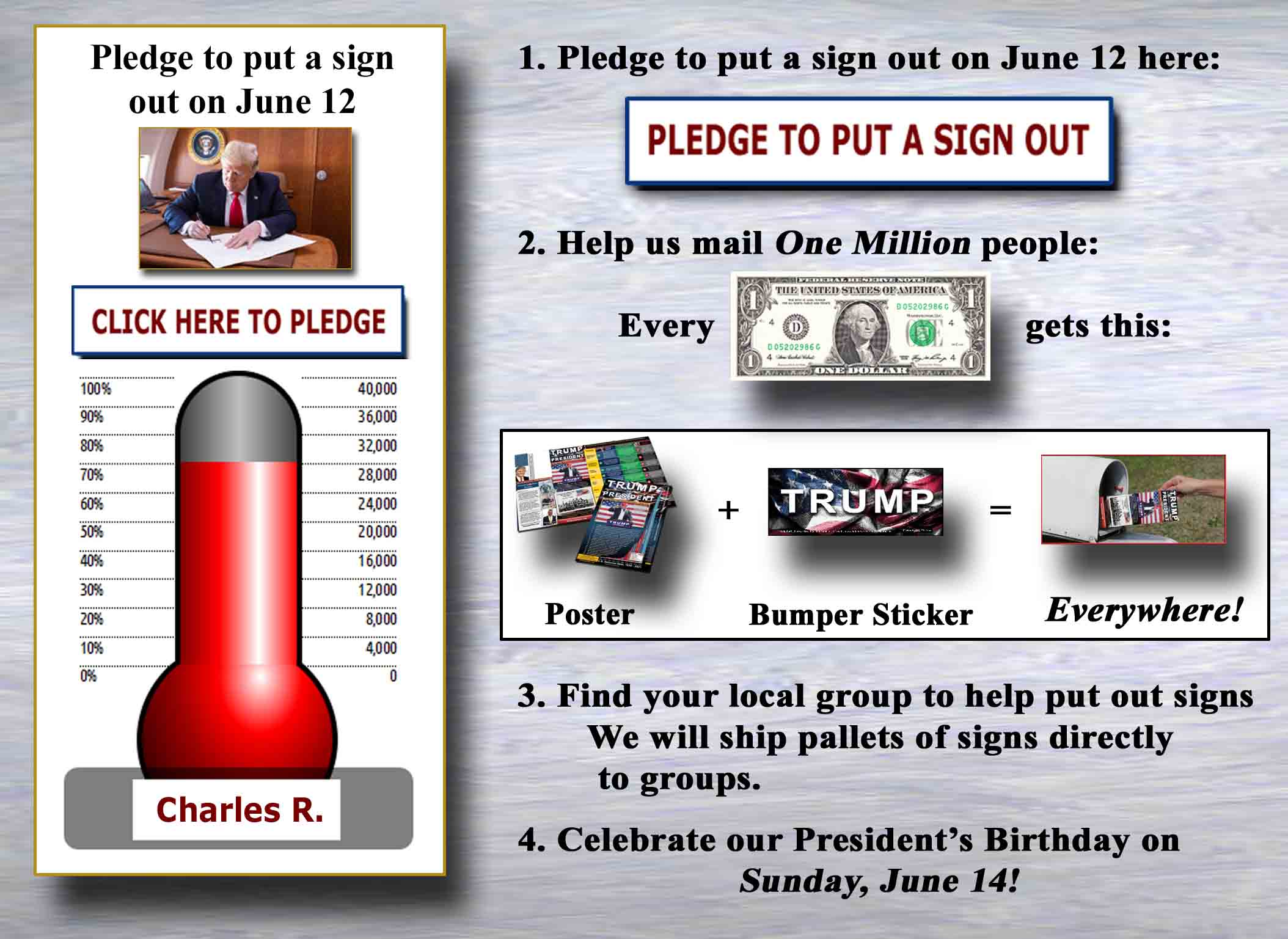Pledge To Put a Sign Out